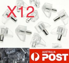 12 X Shelf Support Pins Clear Plastic Support To Suit