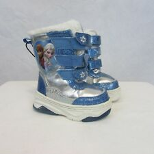 Disney Frozen Kids Girls Fur Lined Snow Boots Elsa and Anna Youth Size 5 New