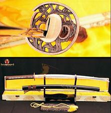Japanese Katana 1060 Carbon Steel Samurai Sword Full Tang Sharp Heat Treat Blade