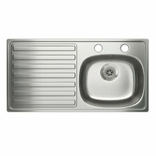 Carron Stainless Steel Single Bowl Kitchen Sinks Without