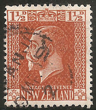 "New Zealand Stamp-Scott#162/A47 1 1/2p Brown Orange ""King George V"" Used/LH 1918"
