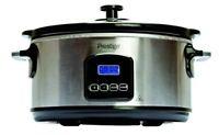 Prestige 46447 Digital Slow Cooker 5.5 Litre Silver