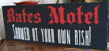 Bates Motel Sign Shower at Your Own Risk Halloween Sign