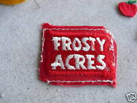 VINTAGE Uniform Patch Frosty Acres LOOK