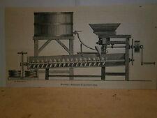 Gravure 19° Machine à fabriquer le béton