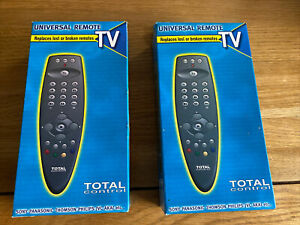 2 X TOTAL CONTROL Universal Remote for any TV Philips Samsung LG Panasonic NEW