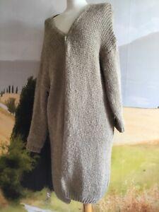 Veste 30 % laine et alpaga Made in Italy camel taille XL en très bon état.