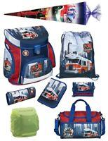 Feuerwehrmann Sam 4er Set Rucksack Brotdose Trinkflasche Sticker Kindergarten