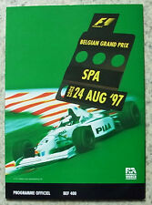 BELGIAN GRAND PRIX FORMULA ONE F1 1997 SPA FRANCORCHAMPS Official Programme