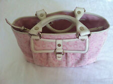 CÉLINE CELINE LILY COLLECTION LILLY BOOGIE BAG TASCHE CANVAS ROSA WEISS PINK