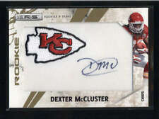 DEXTER MCCLUSTER 2010 ROOKIES AND STARS JUMBO LOGO AUTO PATCH #009/121 AB8914
