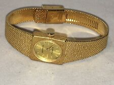 Vintage Geneve Ladies 17 Jewels Mechanical W-up Watch Gold Tone (A-91)