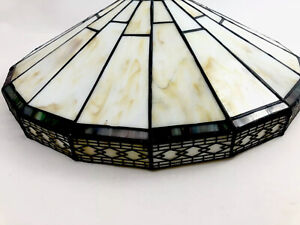 Green Mission Pattern 16 Inch Flush Mount Ceiling Light Shade in Tiffany Style