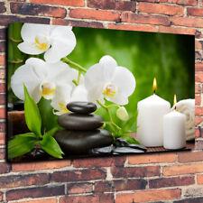 """ZEN pietre tranquillo STAMPA FOTO SU TELA A1.30""""x20"""" 30mm TELAIO profonda meditazione"""