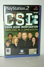 CSI CRIME SCENE INVESTIGATION USATO BUONO SONY PS2 EDIZIONE ITALIANA AT3 43426