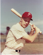 RICHIE ASHBURN PHILLIES HOF OFFICIAL MLB BASEBALL COLOR UNSIGNED 8X10 PHOTO