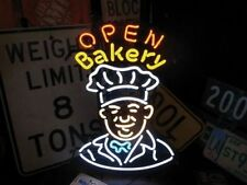 "New Bakery Open Cooker Bread Bar Light Lamp Neon Sign 32""x24"""