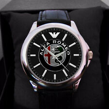 2017 disaign Alfa romeo sport car Custom Men's or women Leather watch
