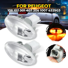 2x Side Indicator Repeater Light For Peugeot 108 107 206 1007 407 Partner