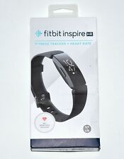 NEW Black Fitbit Inspire HR Heart Rate & Fitness Tracker Small & Large Bands