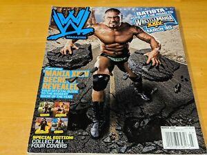 BATISTA WWE MAGAZINE Wrestling March 2008 Issue Dave Bautista Cover #4