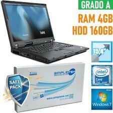 "NOTEBOOK LENOVO THINKPAD R500 CORE DUO 15,4"" 4GB 160GB HDD WINDOWS 7-"