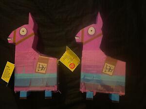 "2, NEW Fortnite Llama Drama Loot Pinata For 4"" Figures 23 Pieces Inside Lot Of 2"