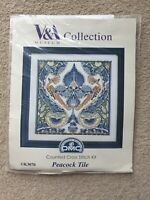 DMC V&A Collection Museum - Peacock Tile - Counted Cross Stitch Kit - K3070