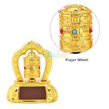 1Pc Tibetan Tibet Buddhist Solar Energy Car Interior Spinning Prayer Wheel New