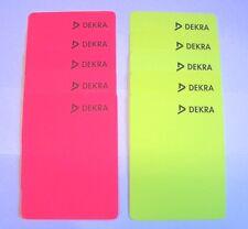 """Schiedsrichter - Karten, 5 x Neongelb + 5 x Neonrot, mit Aufdruck """"DEKRA"""" 2.Wahl"""