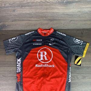 Livestrong Radio Shack Trek Cycling Bike Racing Athletic Jersey Large BONTRAGER