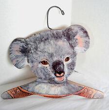 Vtg Australian Koala Bear Wood Cutout Clothing Hanger Annie Art Stupell USA