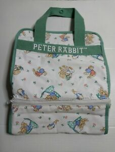 Rare 1997 Peter Rabbit Diaper Bag Tote Enfamil Vintage Potter Wipeable