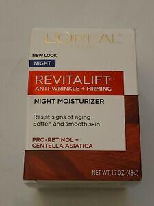 Loreal Revitalift Anti-Wrinkle + Firming Night Moisturizer 1.7 oz (48g)