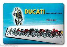 DUCATI MECCANICA Reklame Blechschild Metallschild Schild Metal Sign NEU !!