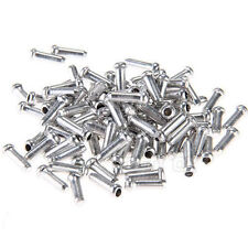 2015 ALUMINUM BIKE BICYCLE SHIFTER BRAKE CABLE TIPS CAPS ENDS CRIMPS 100PCS