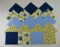 BLUE /& YELLOW FLORAL GROUPING 4 Inch Quilting Squares
