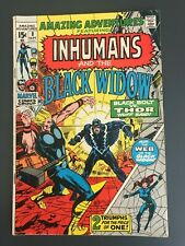 Amazing Adventures #8 (Sept 1971, Marvel) Black Widow The Inhumans Neil Adams