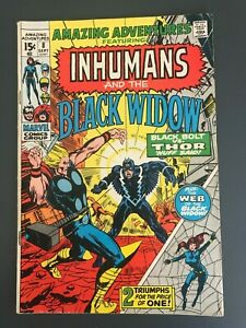 Amazing Adventures #8 (Sept 1971, Marvel) Black Widow The Inhumans Neil Adams