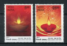 India 2017 MNH Diwali Joint Issue JIS Canada 2v Set Religion Festivals Stamps