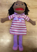 The Puppet Company Puppet Buddies Girl Dark Skin Tone Hand Puppet Educational