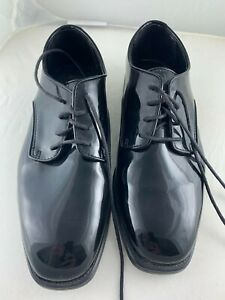 After Six World Party Patent Leather Black Men's Dress Formal Tuxedo Shoes 8M