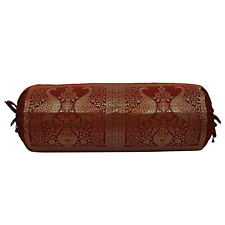 Indian Bolster Pillowcase Cylindrical Traditional Design Cylinder Pillowcase