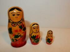 "Vintage Russian Nesting Dolls Doll Tiny 1"" - 3"""