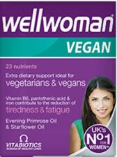 WELLWOMAN VEGAN EXTRA DIETARY SUPPORT IDEAL FOR VEGETARIANS & VEGANS 60 Tablets