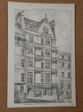 Antique Architects print Badminton Club Piccadilly Building News 1884
