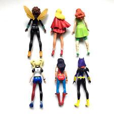 Cute  Super Hero Girls Harley Quinn Batgirl Kid Action Figures Doll Toy 6pcs