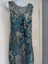 LADIES  MONSOON    STUNNING  SILK TUNIC  SHIFT   SUMMER    DRESS  SIZE  14