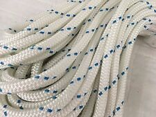 "Double Braid Polyester 1/2""x 100 feet yacht braid halyard line can be spliced"