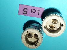 lot de 2 douilles électrique lumière ancien porcelaine batiment lot 5